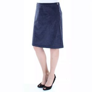 NWT TOMMY HILFIGER Navy Knee Length A-Line Skirt